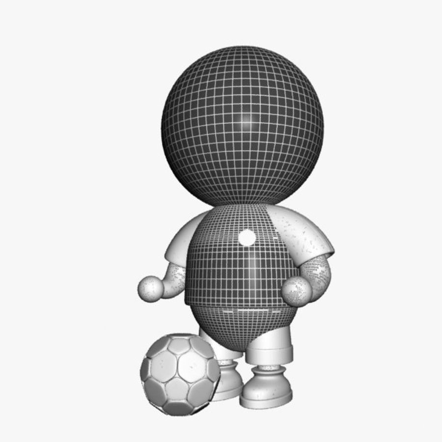 Cartoon Sportsman Character royalty-free 3d model - Preview no. 8