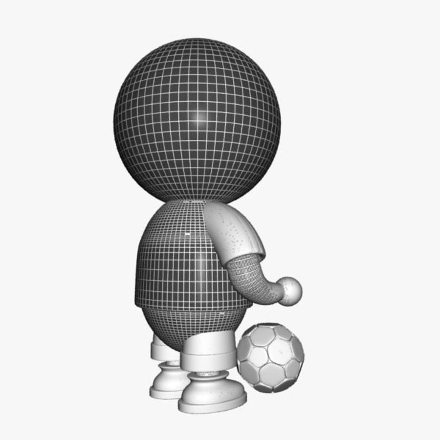 Cartoon Sportsman Character royalty-free 3d model - Preview no. 11