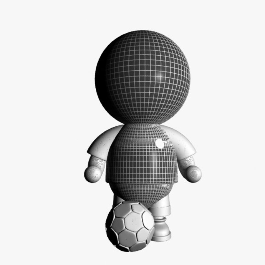 Cartoon Sportsman Character royalty-free 3d model - Preview no. 9