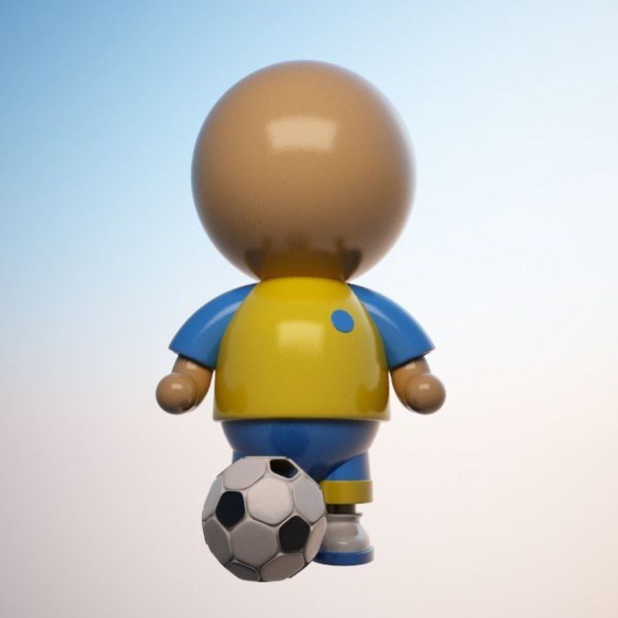 Cartoon Sportsman Character royalty-free 3d model - Preview no. 4