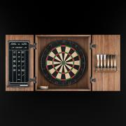 Tournament Dartboard Set 3d model