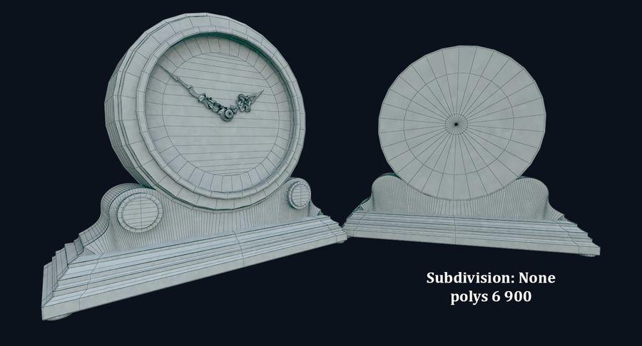 탁상 시계 (벽난로 시계) royalty-free 3d model - Preview no. 6