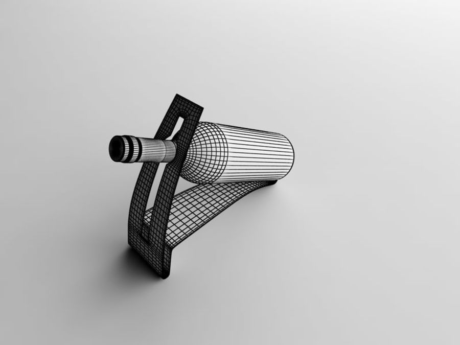 Bottle of wine on a stand royalty-free 3d model - Preview no. 7