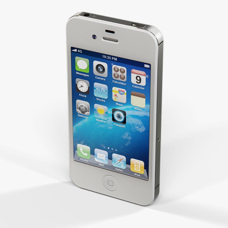 Apple iPhone 4S royalty-free 3d model - Preview no. 10