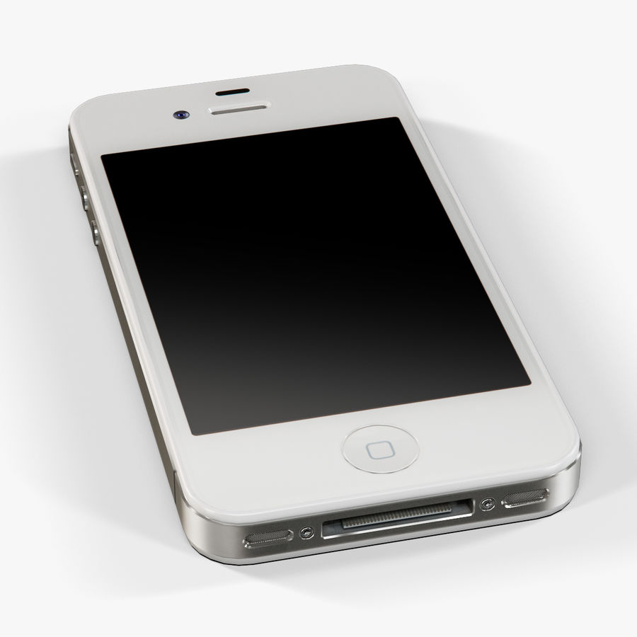Apple iPhone 4S royalty-free 3d model - Preview no. 13