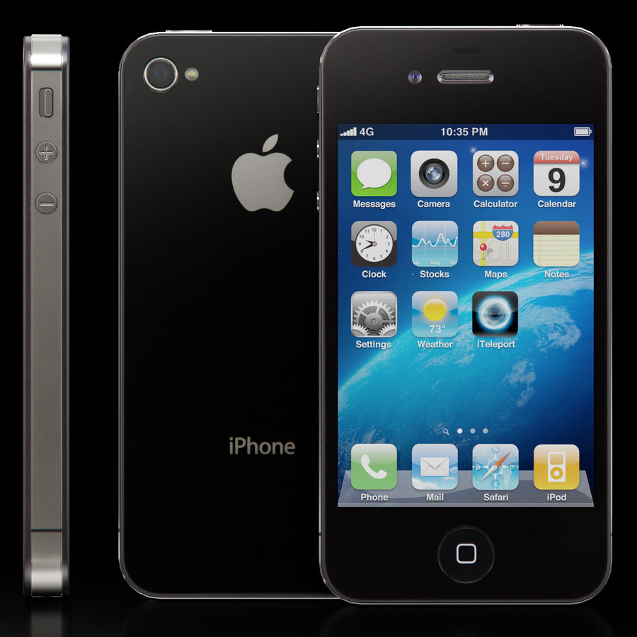 Apple iPhone 4S royalty-free 3d model - Preview no. 2