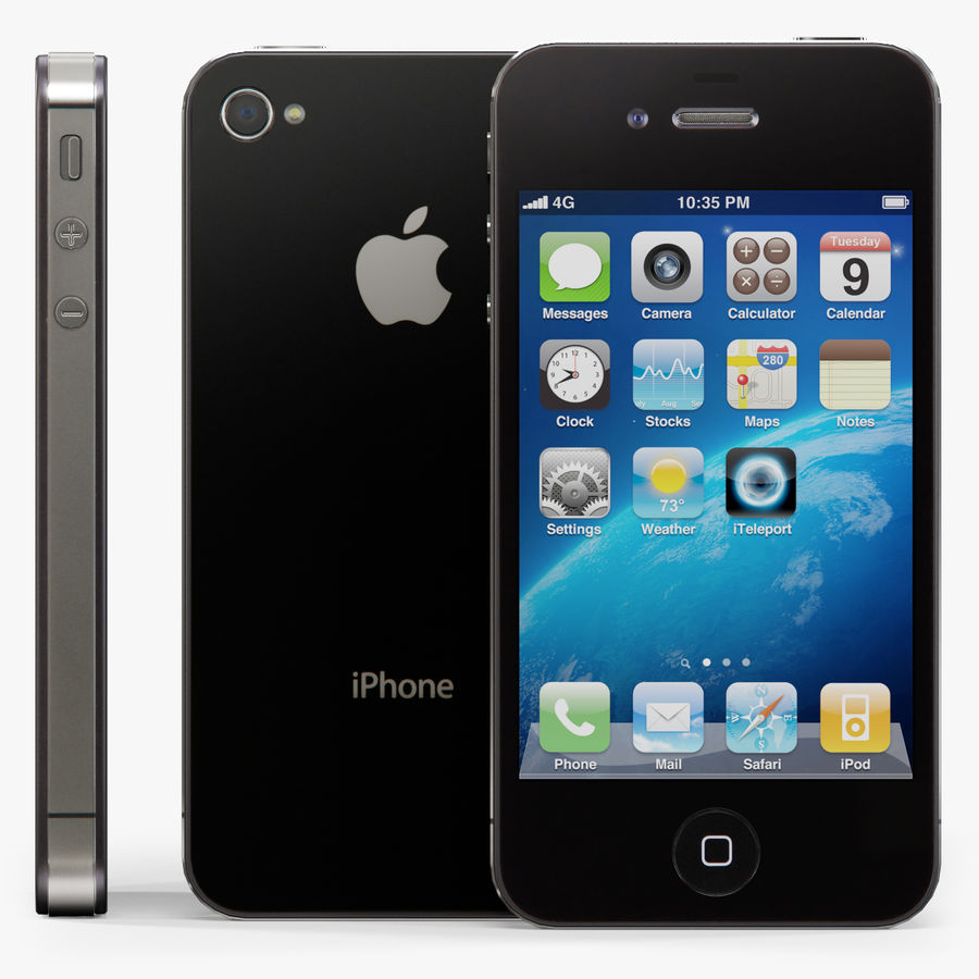 Apple iPhone 4S royalty-free 3d model - Preview no. 1