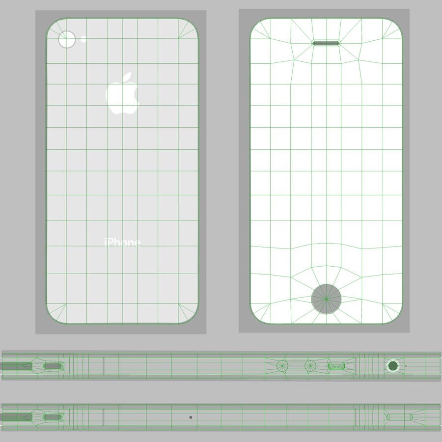 Apple iPhone 4S royalty-free 3d model - Preview no. 20