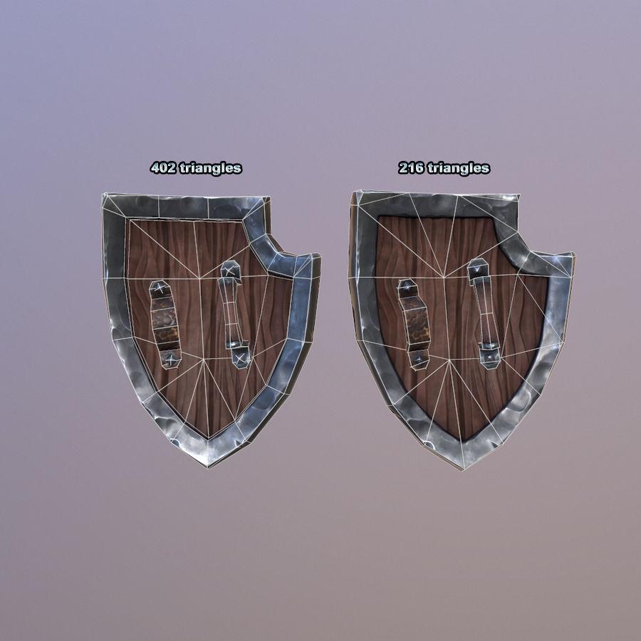 만화 방패 royalty-free 3d model - Preview no. 15
