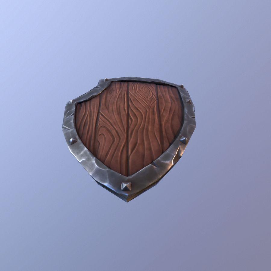 만화 방패 royalty-free 3d model - Preview no. 12