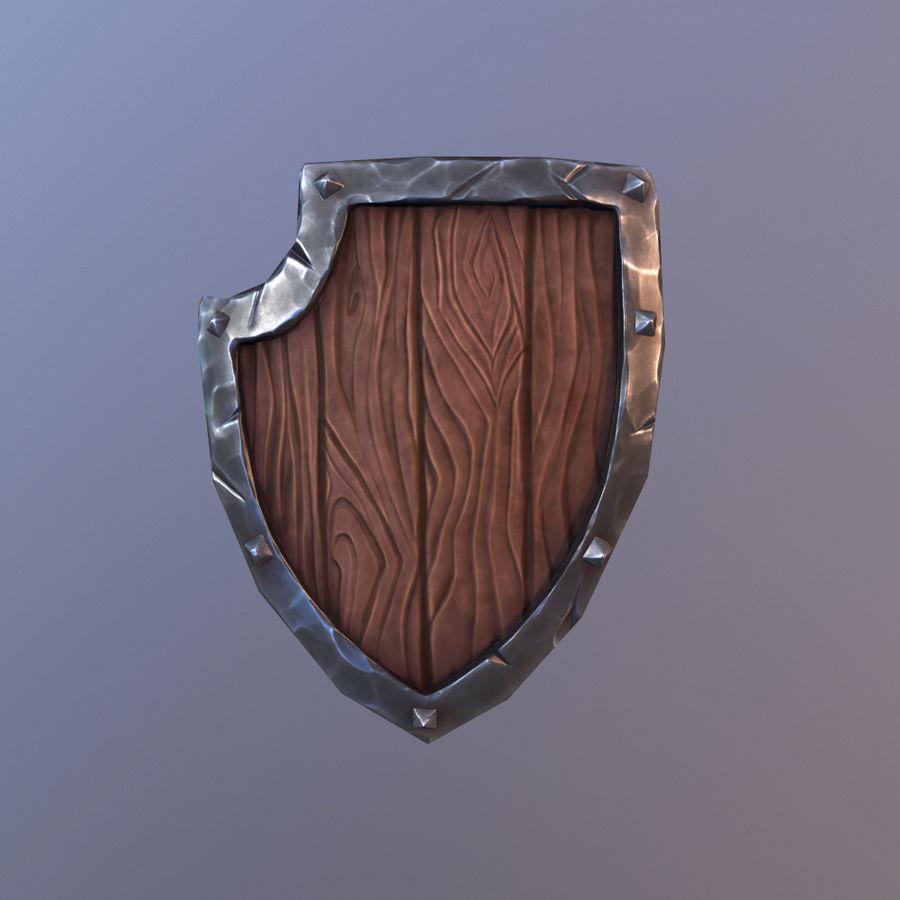 만화 방패 royalty-free 3d model - Preview no. 2