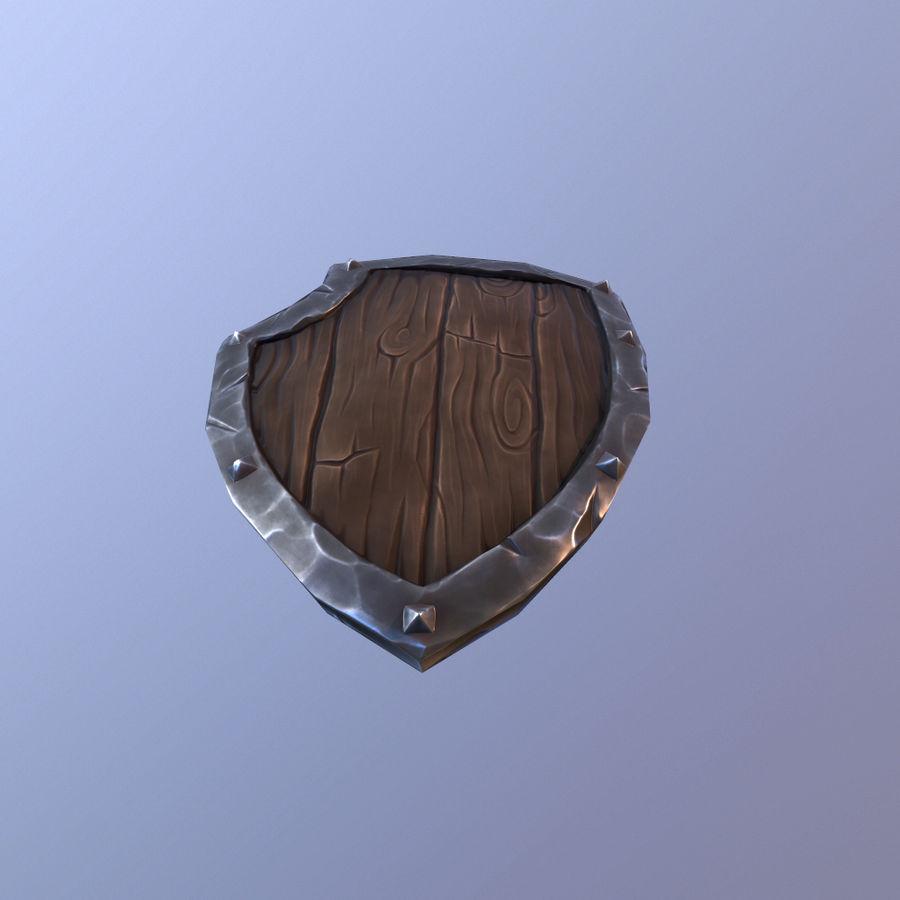만화 방패 royalty-free 3d model - Preview no. 13