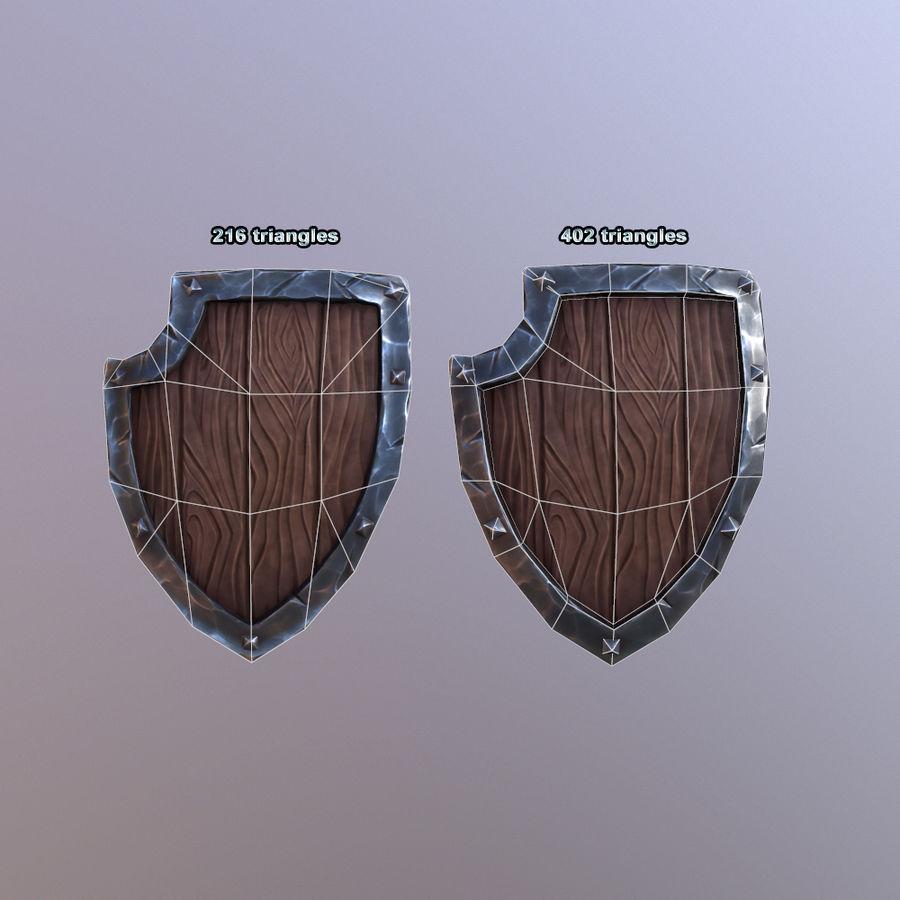 만화 방패 royalty-free 3d model - Preview no. 16
