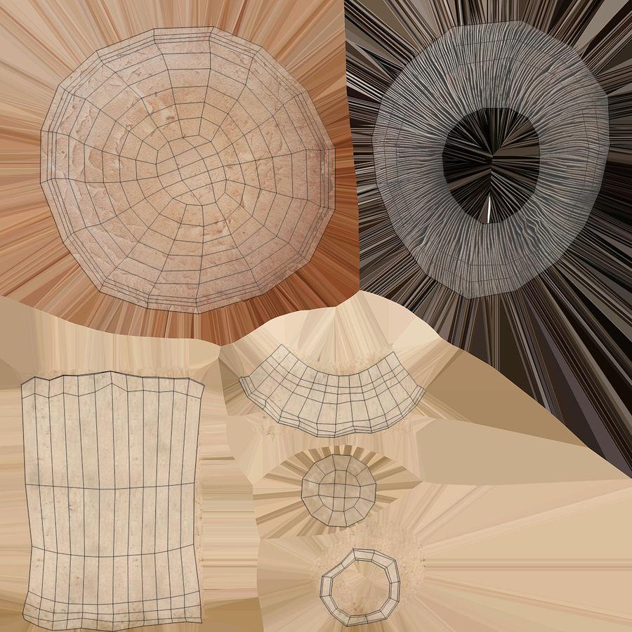 Portobello mantarları royalty-free 3d model - Preview no. 15