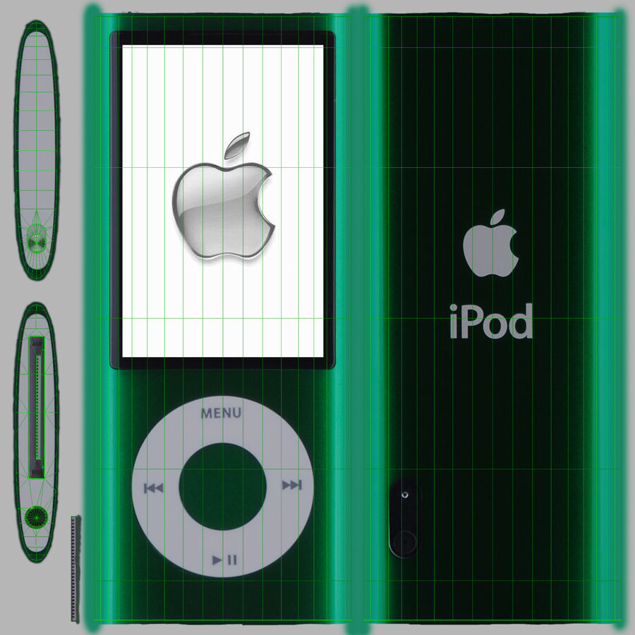 Leitor de mídia digital Apple iPod Nano 5 Generation royalty-free 3d model - Preview no. 4