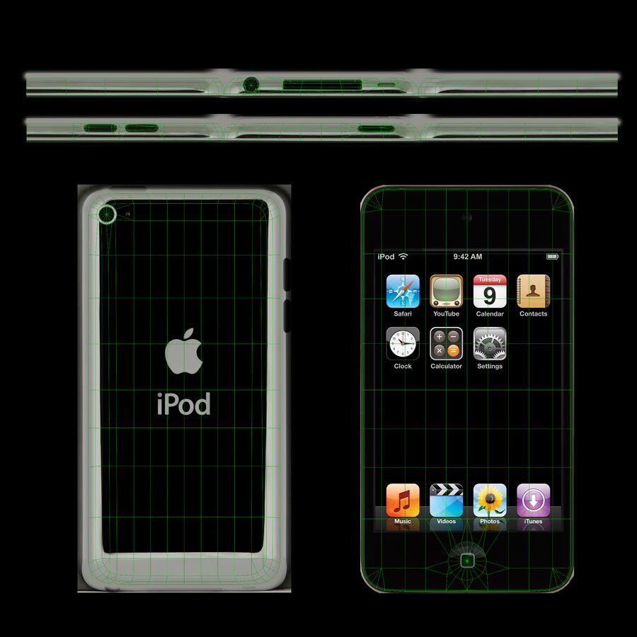 Leitor de mídia digital Apple iPod touch de 4 gerações royalty-free 3d model - Preview no. 4