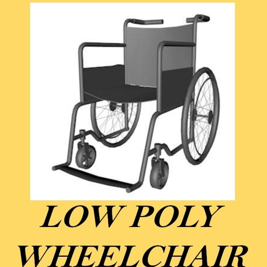 Low Poly Wheelchair royalty-free 3d model - Preview no. 1