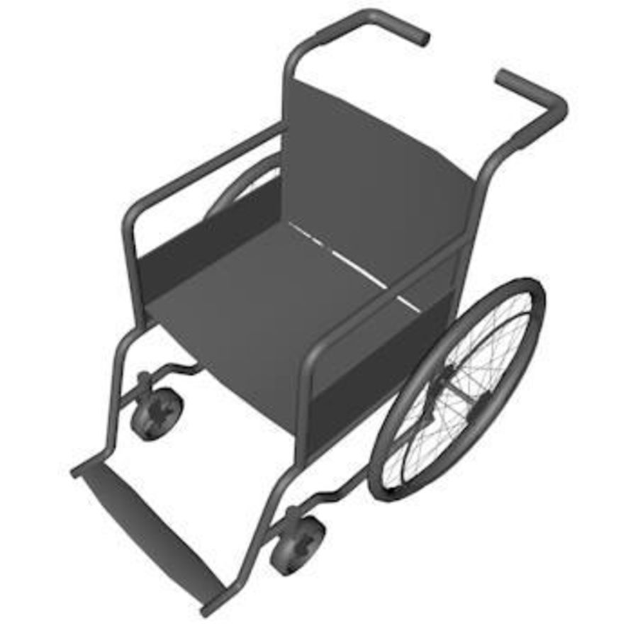 Low Poly Wheelchair royalty-free 3d model - Preview no. 5