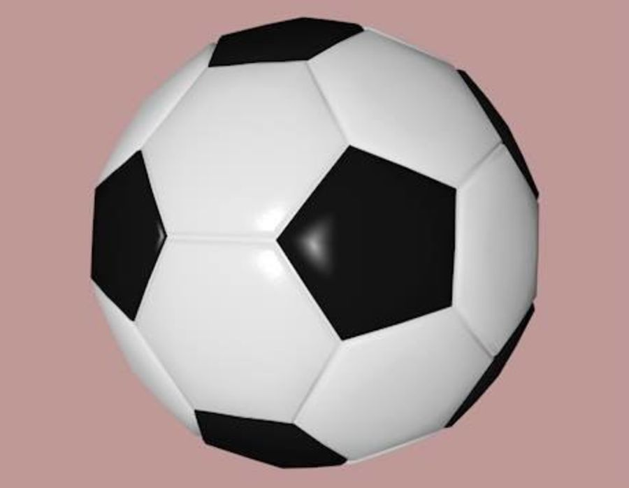 Low Poly Football Soccer Ball royalty-free 3d model - Preview no. 4