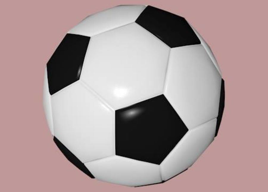 Low Poly Football Soccer Ball royalty-free 3d model - Preview no. 2