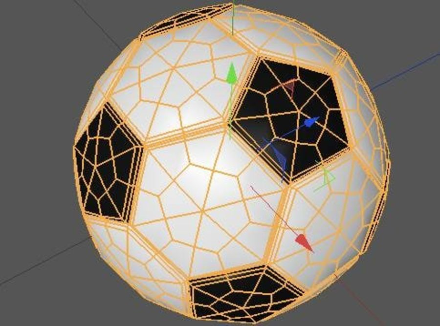 Low Poly Football Soccer Ball royalty-free 3d model - Preview no. 6