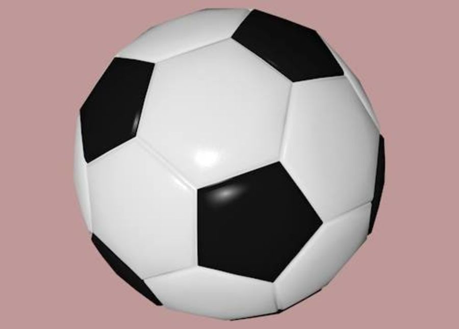 Low Poly Football Soccer Ball royalty-free 3d model - Preview no. 5