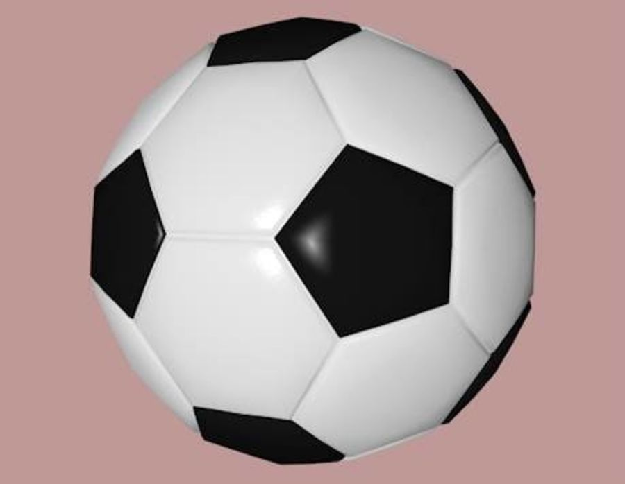 Low Poly Football Soccer Ball royalty-free 3d model - Preview no. 1