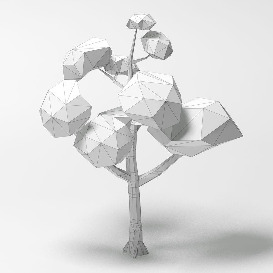 动画片低多桦树 royalty-free 3d model - Preview no. 10