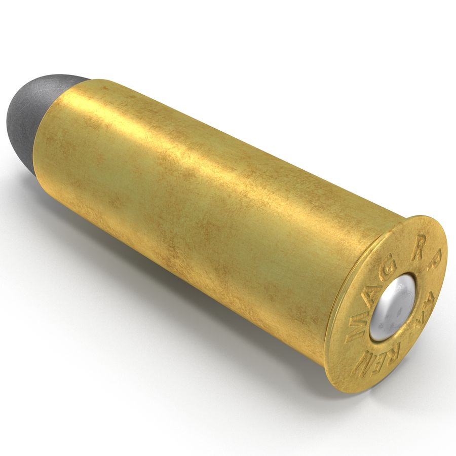 .44 Cartridge 3D Model royalty-free 3d model - Preview no. 8