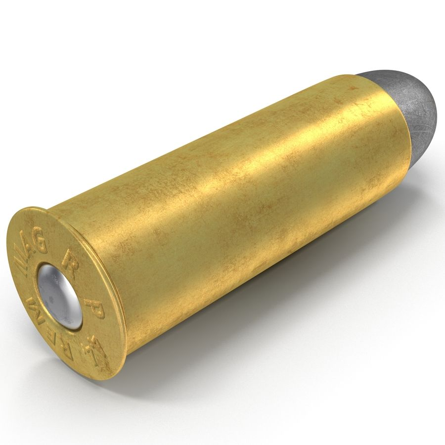 .44 Cartridge 3D Model royalty-free 3d model - Preview no. 7
