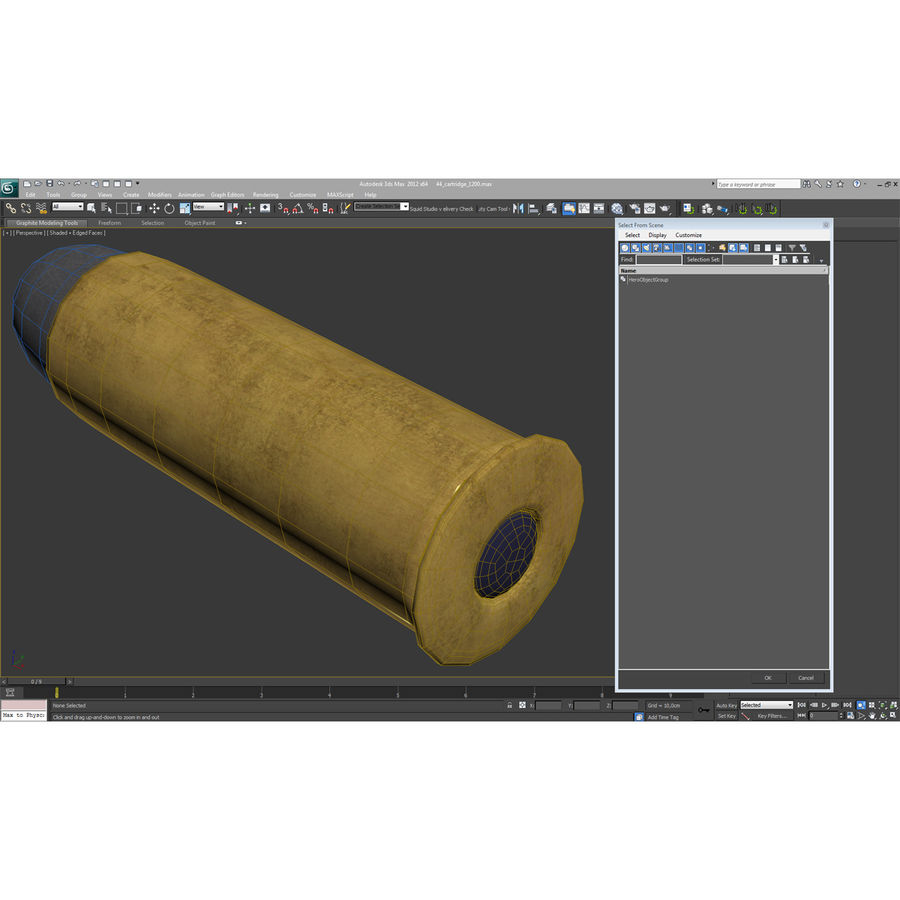 .44 Cartridge 3D Model royalty-free 3d model - Preview no. 16