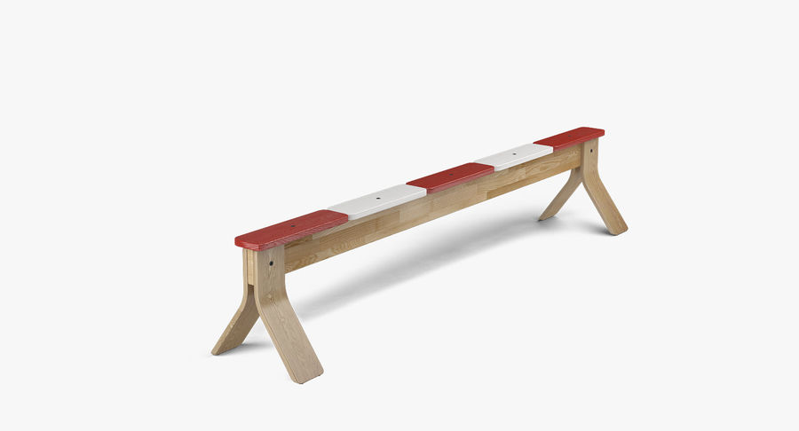 IKEA PS balansbänk royalty-free 3d model - Preview no. 2
