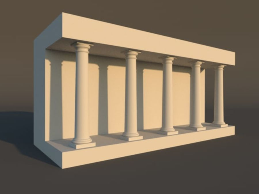 Tuscan Architecture Pack royalty-free 3d model - Preview no. 4