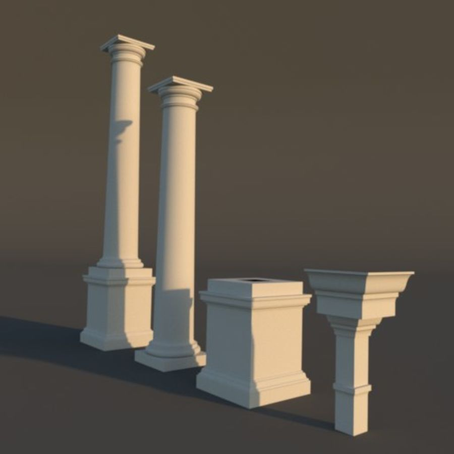 Tuscan Architecture Pack royalty-free 3d model - Preview no. 5
