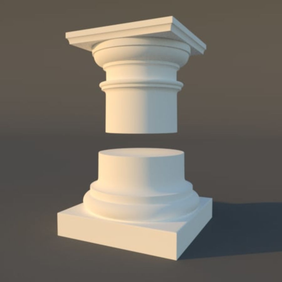 Tuscan Architecture Pack royalty-free 3d model - Preview no. 3