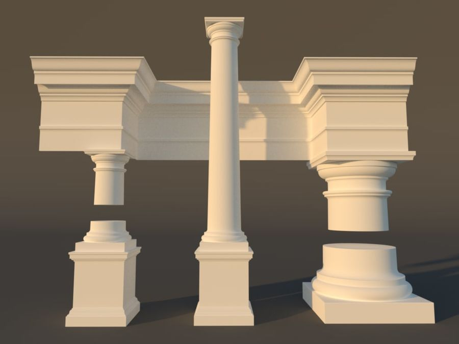 Tuscan Architecture Pack royalty-free 3d model - Preview no. 1