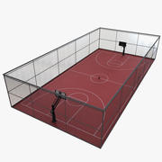 terrain de basket 2 3d model