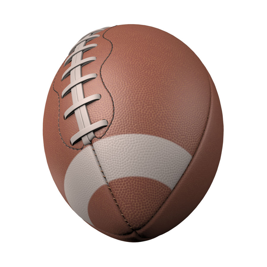 Football Ball royalty-free 3d model - Preview no. 2