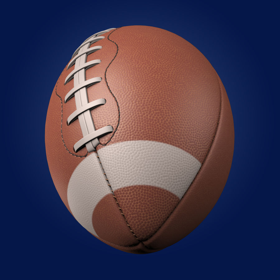 Football Ball royalty-free 3d model - Preview no. 3