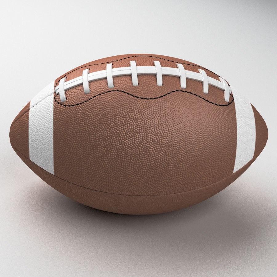 Football Ball royalty-free 3d model - Preview no. 1