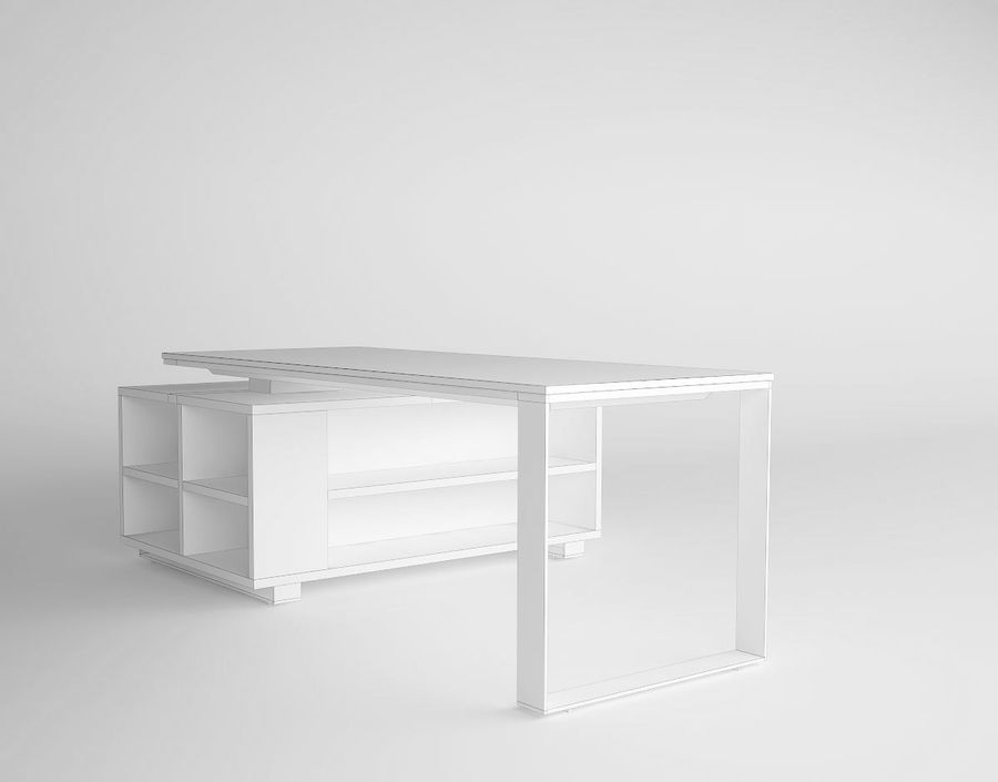 office desk royalty-free 3d model - Preview no. 6