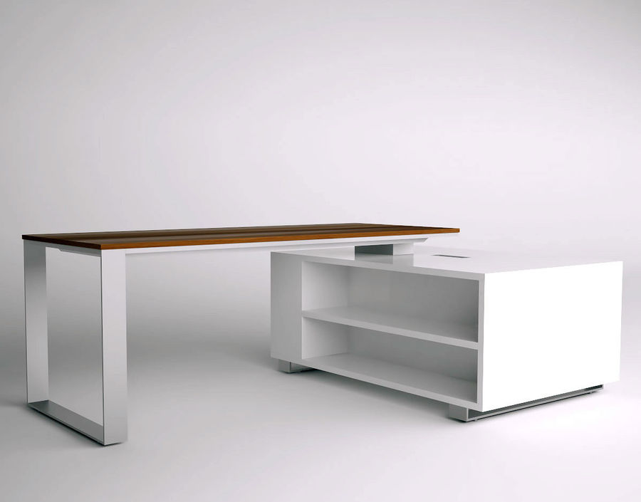 office desk royalty-free 3d model - Preview no. 2