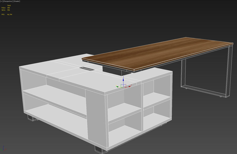 office desk royalty-free 3d model - Preview no. 7