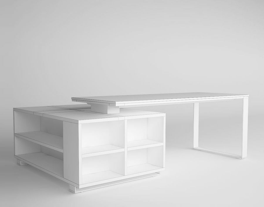 office desk royalty-free 3d model - Preview no. 4