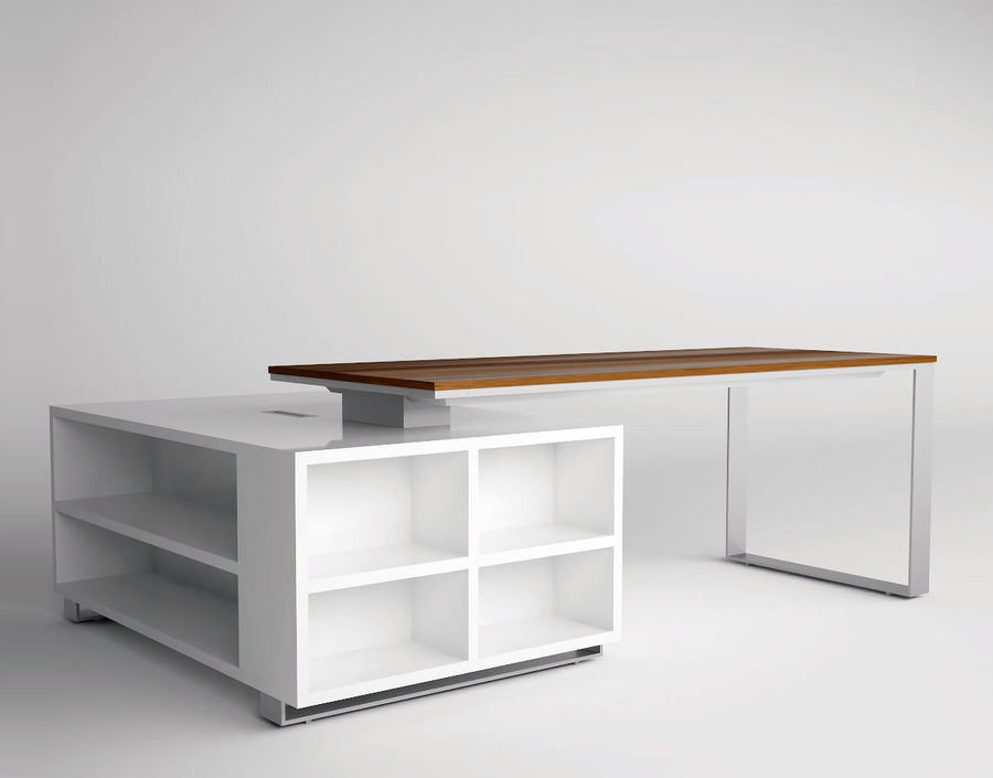 office desk royalty-free 3d model - Preview no. 1