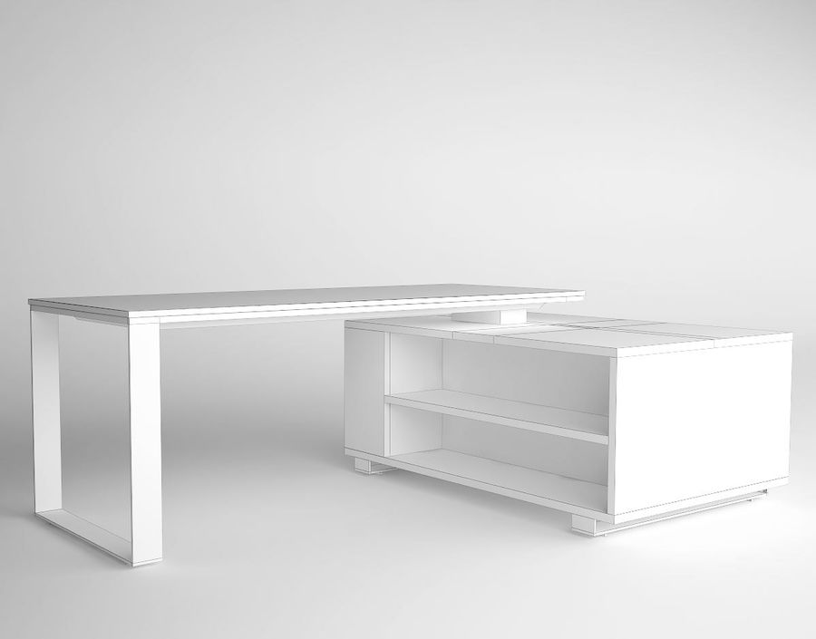 office desk royalty-free 3d model - Preview no. 5