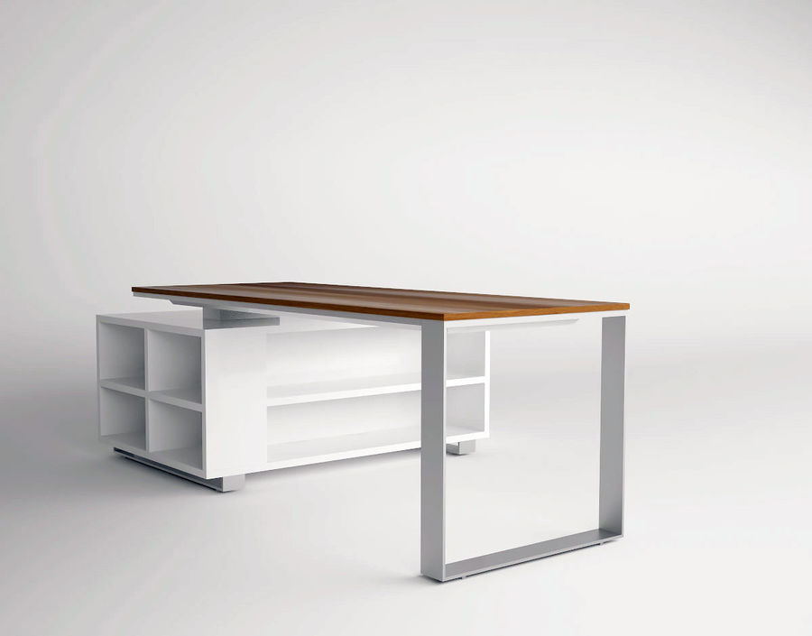 office desk royalty-free 3d model - Preview no. 3