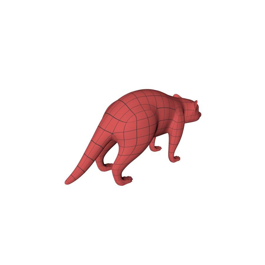 Raccoon base mesh royalty-free 3d model - Preview no. 6