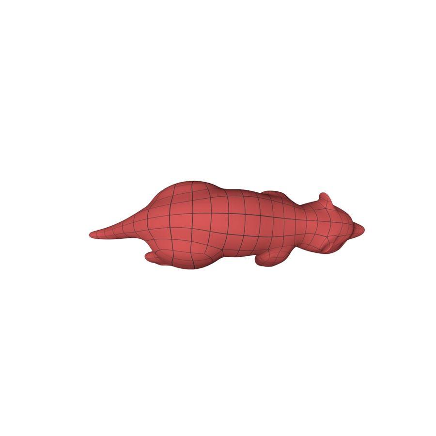 Raccoon base mesh royalty-free 3d model - Preview no. 4