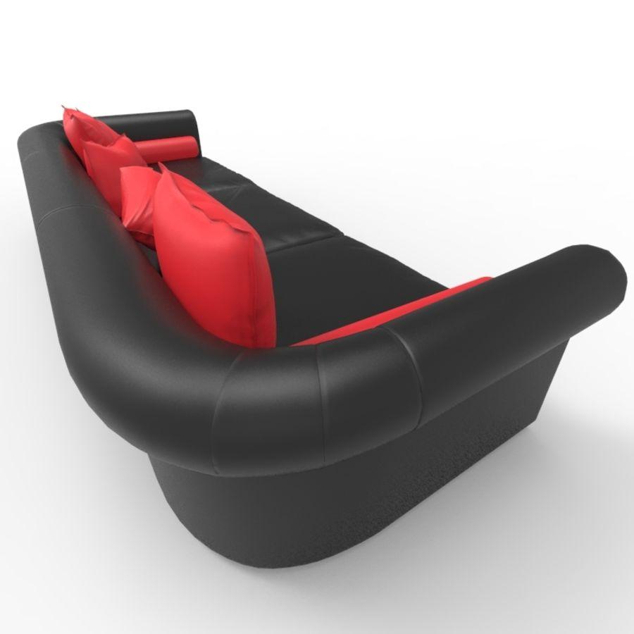 Sofá (Conjunto Uno) royalty-free modelo 3d - Preview no. 4